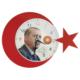 Galaxy Recep Tayyip Erdoğan Ay Yıldız Duvar Saati
