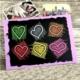 Maxipark Renkli Kalpler Tasarım Kendin Yap Fotoğraf Albümü Ve Defter