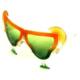 Pandoli Yeşil Turuncu Renk Margarita Gözlüğü
