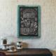 Plattocw Dekoratif Kara Tahta Yazı Tahtası Tebeşir Tahtası (Turkuaz)