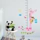 DekorLoft Zürafa ve Maymun Boy Ölçer Sticker DBC35 Pembe