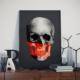Asr Tones Skull - Kurukafa Tonları - Kumaş Saten Poster