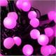 Yılbaşı Çam Ağacı Işığı Pembe Top Işık Led