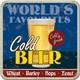 Cold Beer Tekli Bardak Altlığı