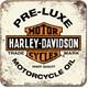 Harley Davidson PRE-LUXE Tekli Bardak Altlığı 9 x 9 cm