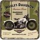 Harley Davidson Knucklehead Tekli Bardak Altlığı 9 x 9 cm