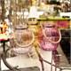Altıncı Cadde Cam Fanus Fener Seti 3 Renk Pembe 26 Cm