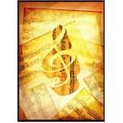 Fzsonata Sol Anahtarı ve Notalardan Oluşan Poster
