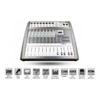 Dexun Cm8-Xs Power Mikser 2X450 Watt 8 Kanal