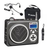 Westa Wap-200 Taşınabilir Seyyar Mini Amfi Başlık Mikrofonlu 15 Watt