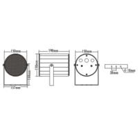 Mcs P-150 Dış Alan Projeksiyon Hoparlör