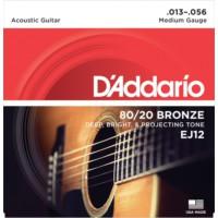 Daddarıo Ej12 Akustik Tel Set Medium ( 0.13 )