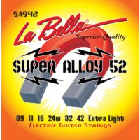 La Bella Sa942 Elektro Gitar Teli Extra Lıght 09-42 Super Alloy 52