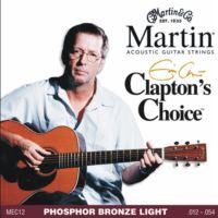 Martin 41Mec12 012 Akustik Gitar Teli Clapton'S Choice Phosphor Bronze Light 1254