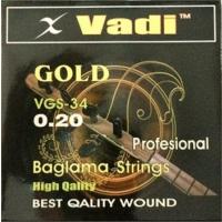 Vadi Gold 0,20 Uzun Sap Profosyonel Bağlama Teli Takımı