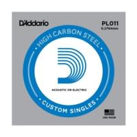 Daddario Pl011 Elektro Tek Tel Plain Steel 011