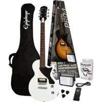 Epiphone Pro-1 Les Paul Alphine White Elektro Gitar Paketi