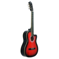 Rodriguez Klasik Gitar Kesik Kasa Eq Kırmızı Rcce650Rb
