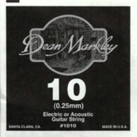 Dean Markley Plain Steel Elektro Gitar Teli (Tek Tel) (0.10) - 1010