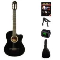 Barcelona Lc 3900 Cbk Cutaway Klasik Gitar Seti (Gitar-Kılıf-Kapo-Gitar Metodu-Pena)
