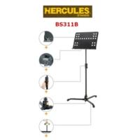 HERCULES BS311B Nota Sehbası Delikli , Katlanabilir (Şef Tipi )