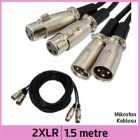 Ti-Mesh 2 Xlr Mikrofon Av Ses Uzatma Kablosu - Siyah - 1,5M