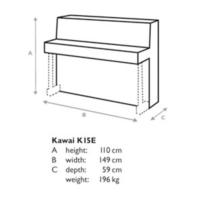 Kawai K15WH Akustik Piyano 110cm