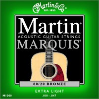 Martin 80/20 Bronze (Extra Light) 10-47 Akustik Gitar Teli - 3 Set