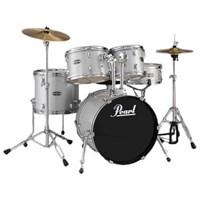 Pearl Tgxc605 C/705 Tgx 5-Pc Drum Set W/Stands & Cymbals, Chrome Parts