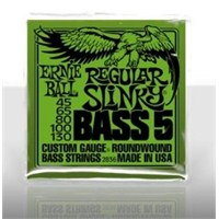 Ernie Ball PO2836 Regular Slinky Nickel Wound 45-130 5 Telli Bass Gitar Tel Seti
