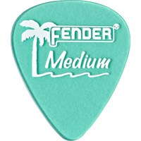 Fender California Clear Picks, 12 Pack, Medium, Su