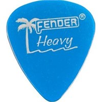 Fender California Clear Picks, 12 Pack, Heavy, Lak