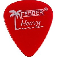 Fender California Clear Picks, 12 Pack, Heavy, Can