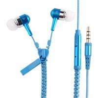 Saywin U2045 Zipper Mikrofonlu Fermuarlı Kulak İçi Kulaklık Mavi