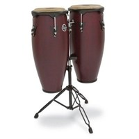 "Lp Lp646ny-Dw 10 & 11"" Set Conga Dark Wood(Stand Dahil)"