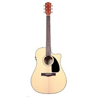 Fender Cd-60Ce Natural Cutaway Spruce Top Nato Bac