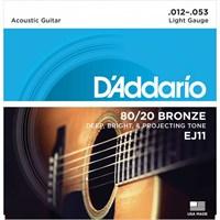 Daddario Ej11 Akustik Tel Set ( 0.12)