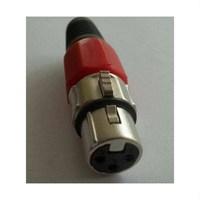 Dişi Xlr Jack Un-F100Xlr-Rd Kırmızı Renk