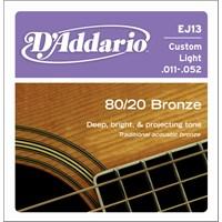 Daddario J13 Akustik Tel Set 80/20 Bronze