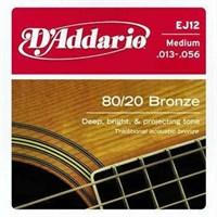 Daddario Ej12 Akustik Tel Set Medium (0.13)