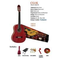 Valencia Cg1K34Twr Klasik Gitar Set Kırmızı