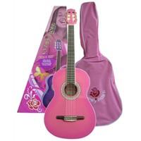 Valencia Grc1Kcpk Klasik Gitar Pembe+Kılıf