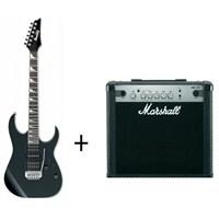 Ibanez GRG170DX-BKN + Marshall MG15CF Gitar Seti