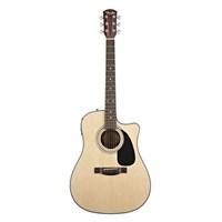 Fender Cd-100Ce Natural Cutaway Spruce Top Mahog B