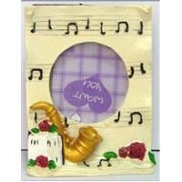 Fzsonata Saksofon Kabartmalı Notalı Çerçeve