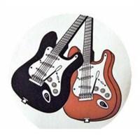 Music Gifts Elektrogitarlı Bardak Altlığı