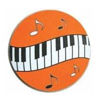Music Gifts Dalgalı Tuşeli Bardak Altlığı