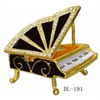 Fzsonata Taşlı Kuyruklu Piyano Şeklinde Mücevher Kutusu