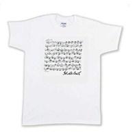 Bach İmzalı ve Notalı Tişört (Beyaz)