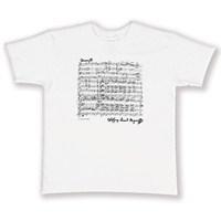 Mozart İmzalı ve Notalı Tişört (Beyaz)